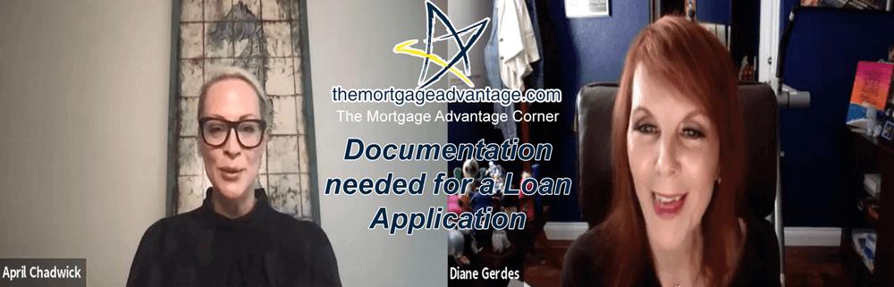 TMA Corner- Documentation needed for a Loan Application